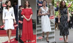 While the Duchess has won style plaudits for her show-stopping outfit choices, MailOnline can reveal it has come with a hefty price tag - £26,352, or £5,270 a day to be precise.