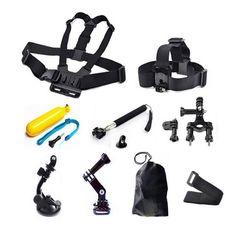 >> Click to Buy << For GoPro accessories kits Bike Motorcycle Handlebar Mount Head Strap Floating Selfie stick for Xiaomi Yi SJCAM SJ4000 camera #Affiliate