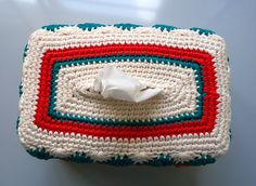 Ravelry: Catherine Wheel Tissue Box Cover pattern by Kool Stitch