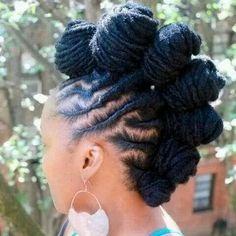 Black Hair Hairstyles, Bantu Knot Hairstyles, Dreadlock Hairstyles, African Hairstyles, Hairstyles 2018, Pretty Hairstyles, Mohawks, Afro Punk, Cornrows