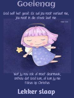 Goeie Nag, Goeie More, Afrikaans, Good Night, Spirituality, Disney Princess, Disney Characters, Lilac, Amanda