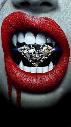 Diamond of vampire!-Diamond of vampire! Art Vampire, Vampire Love, Female Vampire, Vampire Eyes, Vampire Girls, Lip Art, Fantasy Kunst, Fantasy Art, Dope Kunst