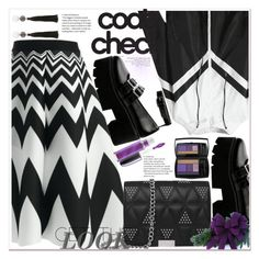 """""""Statement Coats"""" by amalyalana ❤ liked on Polyvore featuring MAC Cosmetics and Lancôme"""