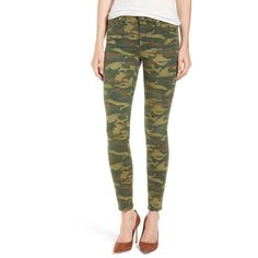 Women's True Religion Brand Jeans 'Halle' Super Skinny Jeans ($179) ❤ liked on Polyvore featuring jeans, distressed camo, white distressed jeans, camo skinny jeans, destroyed skinny jeans, ripped skinny jeans and white skinny jeans