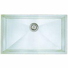 "Blanco 512747 Precision Single Basin Stainless Steel Kitchen Sink 32"" x 19"""
