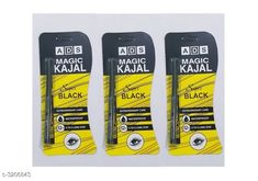 Eyes ADS Eye Care 12 Hr Waterproof Kajal Pencil Black (Pack Of 3) Product Name: ADS Magic Kajal Yellow ( Pack Of 3 ) Brand Name: ADS Product Type: Kajal  Capacity: 0.35 gm Package Contains: It Has 3 Pack  Kajal Country of Origin: India Sizes Available: Free Size *Proof of Safe Delivery! Click to know on Safety Standards of Delivery Partners- https://ltl.sh/y_nZrAV3  Catalog Rating: ★3.9 (2966)  Catalog Name: Free Gift Ads Eye Care 12 Hr Waterproof Kajal Pencil Black Vol 5 CatalogID_441461 C51-SC1242 Code: 821-3206843-