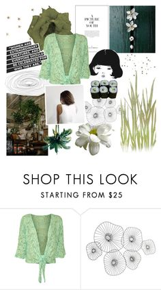 """""""Carina Floral Lace Top"""" by ksyushakarpenko ❤ liked on Polyvore featuring WearAll, Cyan Design, Jura and plus size clothing"""