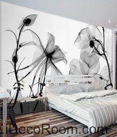 Transparent Flower Petals IDCWP-000079 Wallpaper Wall Decals Wall Art Print Mural Home Decor Gift