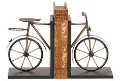 Pair of Bicycle Bookends on OneKingsLane.com