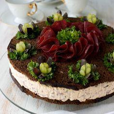 Savoury Baking, Savoury Cake, Finland Food, Finnish Recipes, Good Food, Yummy Food, Salty Foods, Sandwich Cake, Salty Cake