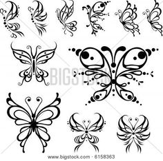 Small Butterfly Tattoos | Butterfly tattoo. Stock Vector Stock Photos | Bigstock