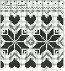 This is such a pretty pattern, with many ways to use. I know I can think of something adorable and pretty. Tapestry Crochet Patterns, Fair Isle Knitting Patterns, Knitting Charts, Knitting Stitches, Knitting Designs, Crochet Cross, Crochet Chart, Cross Stitch Embroidery, Cross Stitch Patterns
