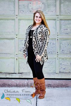 Plus Size Tribal Print Cardigan