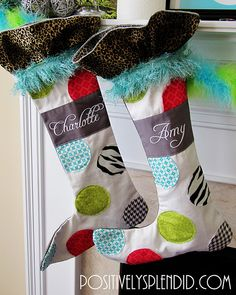 How to hang a Christmas Stocking (and make it look good!)