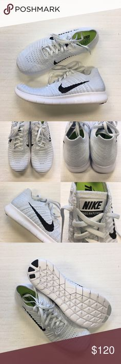 Women's Nike Free RN Flyknit Running Shoes Women's Nike Free RN Flyknit Running Shoes Style/Color: 831070-101  • Women's size 10  • NEW in box (no lid) • No trades •100% authentic Nike Shoes Sneakers