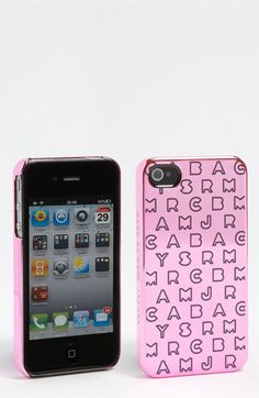 MARC BY MARC JACOBS 'Dreamy Logo' Metallic iPhone 4 Case available at #Nordstrom