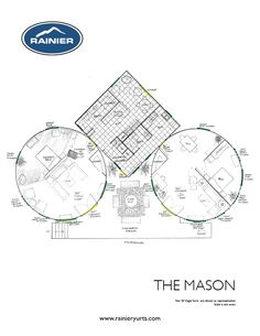 yurt floor plan more complex than we would ever get into but