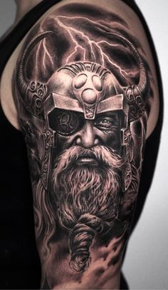 Face Tattoos For Women, Tattoos For Guys, Viking Tattoos, Chest Tattoo Viking, Life Tattoos, Body Art Tattoos, Norse Mythology Tattoo, Tattoo Aftercare Tips, Knight Tattoo