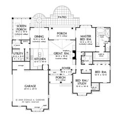 Traditional Style House Plan - 3 Beds 2.00 Baths 1974 Sq/Ft Plan #929-924 Floor Plan - Main Floor Plan