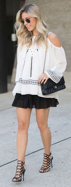 Glam For You Black And White Rollover Outfit Idea