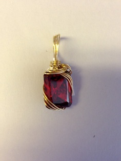 Deep Red CZ Pendant by Texanstyle on Etsy, $78.00