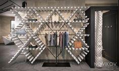 Wall installation - Strabo Store concept by Novikov Designs www.novikovdesigns.co.uk