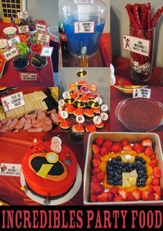 2 Year Old Boy Pixar's The Incredibles Birthday Party with Free Incredibles Printables Incredibles Birthday Party, Superhero Birthday Party, 6th Birthday Parties, Third Birthday, Birthday Fun, Birthday Party Decorations, 5th Birthday Ideas For Boys, Birthday Breakfast, Birthday Recipes