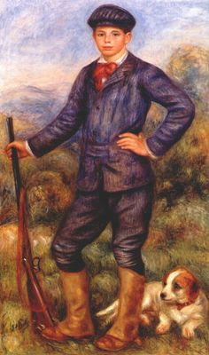 Jean Renoir as a Hunter - Pierre-Auguste Renoir