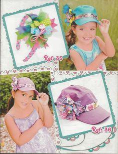 Revistas de manualidades Gratis  Revista de moños gratis Gorras Decoradas 6e293b5024a