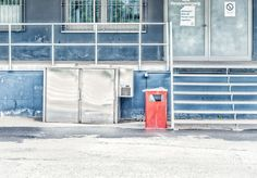 'red garbage can' von Vera Kämpfe bei artflakes.com als Poster oder Kunstdruck $27.72