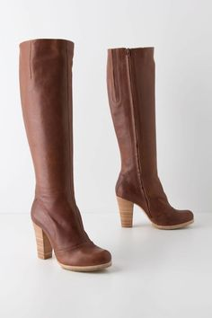 Coclico Mahogany Wood Boots from Anthropologie