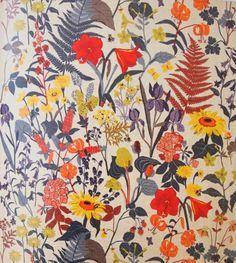 Swedish floral textile