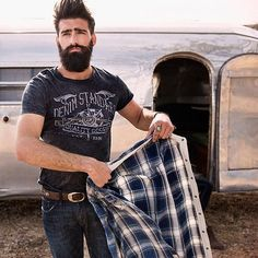 Any man stepping out of an airstream with a beard and a plaid shirt is ok with me.