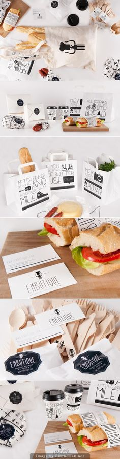 Embutique, great packaging design, sandwich, bread, innovative brand idea :: graphic design and copy Corporate Design, Graphic Design Branding, Identity Design, Bread Packaging, Bakery Packaging, Food Packaging Design, Food Branding, Restaurant Branding, Identity Branding