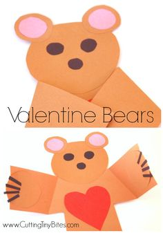 Read and Play Book Extension Activity for the Eve Bunting and Jan Brett book The Valentine Bears.  Cute paper bear craft for toddlers, preschoolers, or older children!