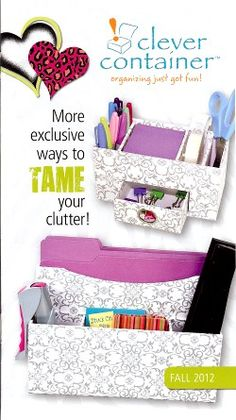 Tame the clutter with new Clever Container products! www.mycleverbiz.com/aprildelrio