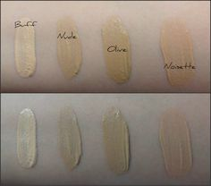 BECCA Cosmetics Radiant Skin Satin Finish Foundation Swatches via Fairytales and Coffee