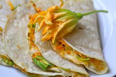 Squash Blossom Quesadillas by cookingwithmykid: Smiles on your plate! #Quesadillas #Squash_Blossom #cookingwithmykid