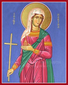 Saint Martha of Bethany. Icons: Jerusalem