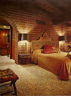 1970s Architectural Digest Bedroom....Feel like I could take a nice nap in this room.
