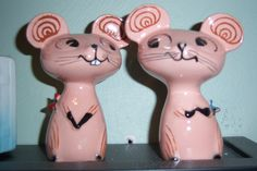 Holt Howard Merry Mouse S & P Shakers, 1958