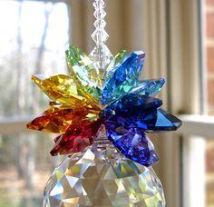 Swarovski Crystal with 30mm Swarovski Ball by HeartstringsByMorgan