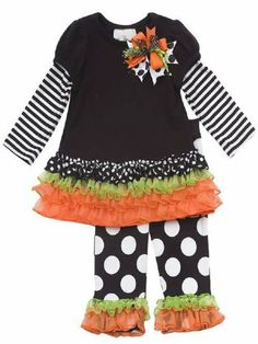 Shabby Chic Girls Halloween Outfit PreorderPersonalize It!