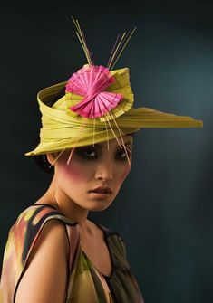 Laurence Leleux. This hat reminds me of an ikebana flower arrangement. That's why I like it.