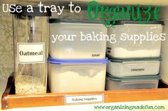 Organize your baking supplies