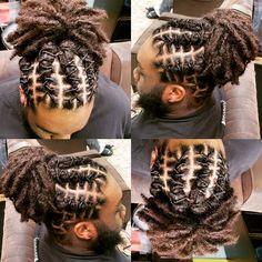 Dreads Short Hair, Dreadlock Hairstyles For Men, Dread Braids, Dope Hairstyles, Mens Dreadlock Styles, Dreads Styles, Hair Men Style, Loc Styles For Men, Natural Hair Styles