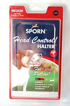 Sporn Head Control Halter Medium Size for Dog Weight 2560 Lbs BLACK ** Click image to review more details.Note:It is affiliate link to Amazon.