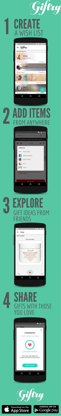 How to never give (or receive) a bad gift again in 4 easy steps using the free Giftry app!