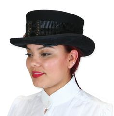 bb044f6fe9944 Ladies Riding Hat - Feather   Pleats. Historical Emporium