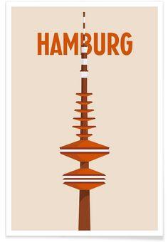 Hamburg als Premium Poster von Designliga Products | JUNIQE